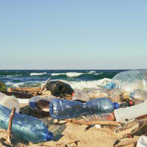 zero waste wasserflaschen am strand