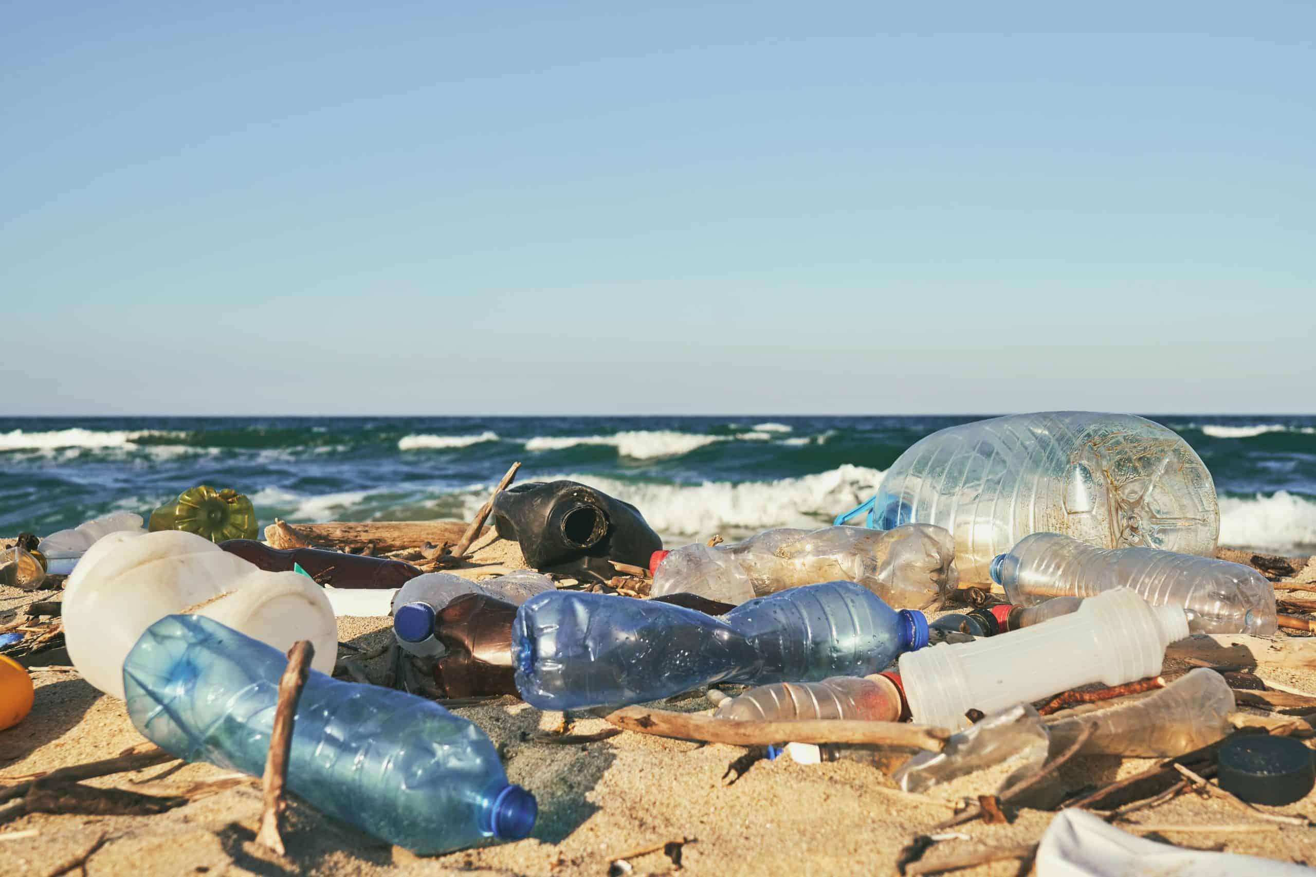 zero waste wasserflaschen am strand scaled