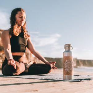 yoga trinkflache edelstahl